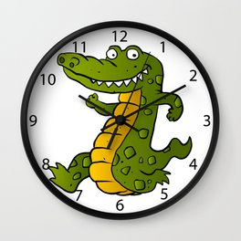 Cartoon crocodile Wall Clock