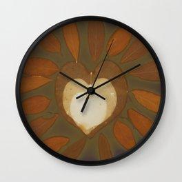 glowing heart Wall Clock