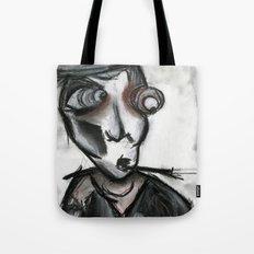The Curious Smoking Man Tote Bag