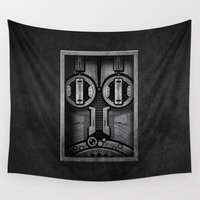 industrial Wall Tapestries featuring D1 Industrial by HOMER LIWAG