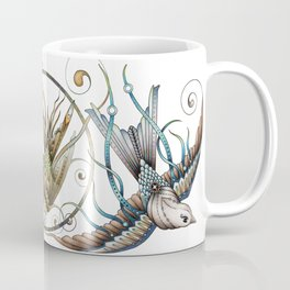 Circle Birds Coffee Mug