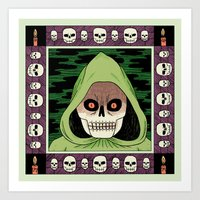 death Art Prints featuring Death  by Jack Teagle