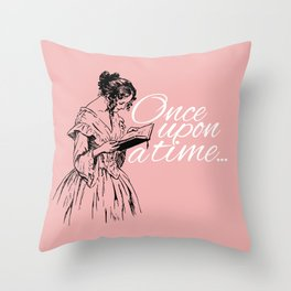 Reading Too Many Novels (Blush) Throw Pillow