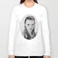 gemma correll Long Sleeve T-shirts featuring Gemma Ward Mermaid (Pencil Art) Tamara by Aeriz85