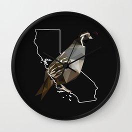 California – California Valley Quail (Black) Wall Clock