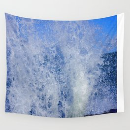 Lake Michigan Natural Fountains #3 (Chicago Waves Collection) Wall Tapestry