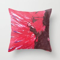 pain Throw Pillows featuring Pain by C-ARTon