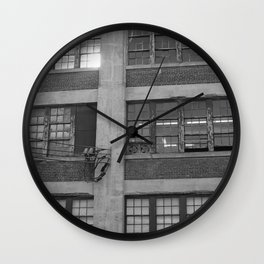 old building • photography Wall Clock