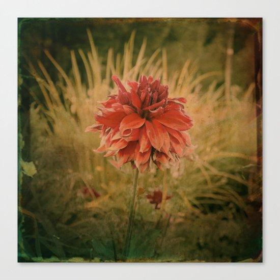 Hand painted vintage flower Canvas Print