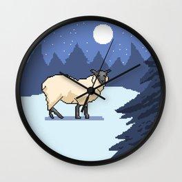 Pixel sheep Wall Clock
