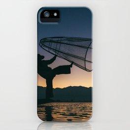 Burmese Fisherman iPhone Case
