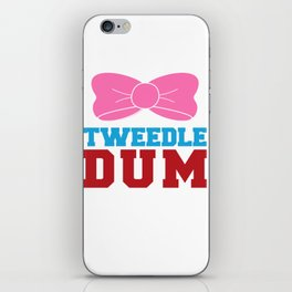 Tweedle Dee Matching Funny Graphic T-shirt iPhone Skin