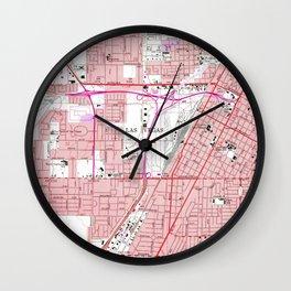 Vintage Map of Las Vegas Nevada (1967) 3 Wall Clock
