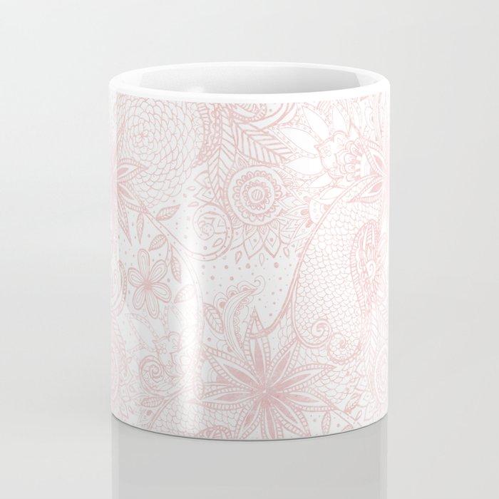 Boho chic floral henna mandala image Coffee Mug