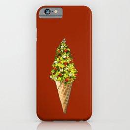 Christmas Tree Ice Cream Cone iPhone Case