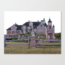 Stone Mansion on the River Canvas Print