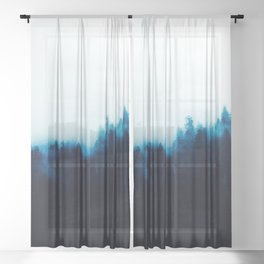 BLUE MOUNTAINS LANDSCAPE Sheer Curtain