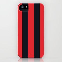 Vertical Stripes Black & Red iPhone Case