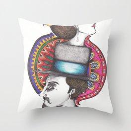 Lady & Gentleman Throw Pillow