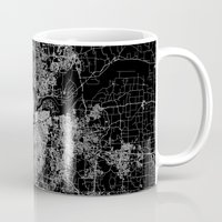 kansas Mugs featuring Kansas City map by Line Line Lines