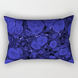 Tova - abstract art for home decor dorm college office minimal navy indigo blue Rectangular Pillow
