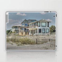 Tybee Island Beach Houses in Winter Laptop & iPad Skin
