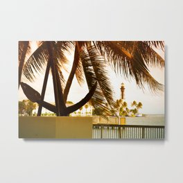 Inlet Anchor View Metal Print
