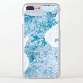 Sea Paint Clear iPhone Case