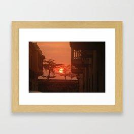 Sunset in Cartegena Framed Art Print