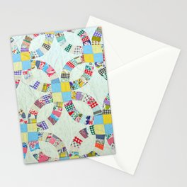 Colorful quilt pattern Stationery Cards