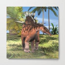 Dinosaur Kentrosaurus Metal Print