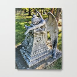 Grieving Angel (Grove Hill Cemetery, Dallas TX) Metal Print