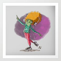 disco Art Prints featuring Disco by German