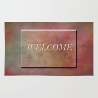 welcome Area & Throw Rugs featuring Welcome by Judith Lee Folde Photography & Art