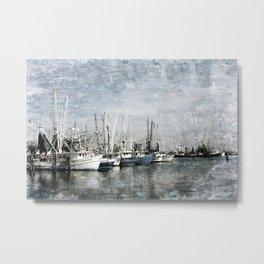 Shrimp Boats at the Harbor Metal Print