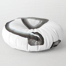 Breath Portrait Black Floor Pillow