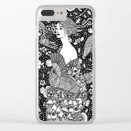 Gustav Klimt - Lady with fan Clear iPhone Case