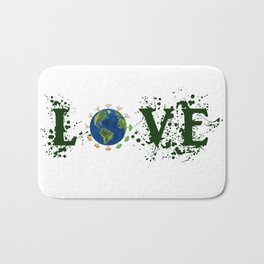 Earth Day Love Mother Earth Bath Mat