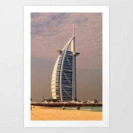 Burj al Arab in Dubai Art Print
