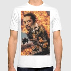 Mad Max White MEDIUM Mens Fitted Tee