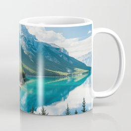 Lake Minnewanka Banff 4k mountains winter Banff National Park Canada Alberta Coffee Mug