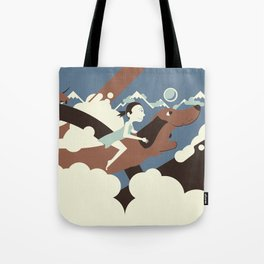 Dackel rider from the North Tote Bag