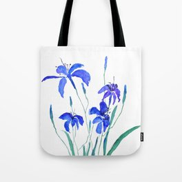 blue day lily Tote Bag