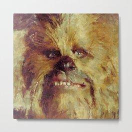 Chewbacca Starwars Character Illustration Metal Print