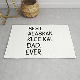 Best Alaskan Klee Kai Dad Ever Rug