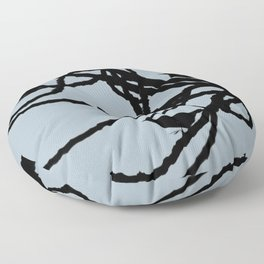 Sparrows Birds Tree Bare Branches Silhouette Floor Pillow