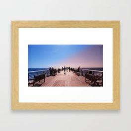 Pantone Pier Framed Art Print