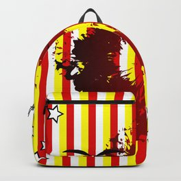Abstract colorful striped Backpack