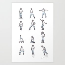 Napoleon Dynamite Dance Art Print