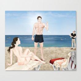 bikini blunder Canvas Print